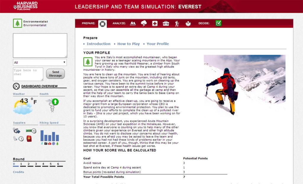 b83460772a Everest Simulation – Entrepreneurship Academy